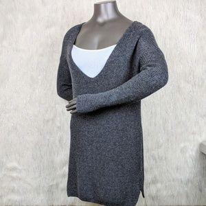 Banana Republic   Charcoal Devotion V-neck Sweater